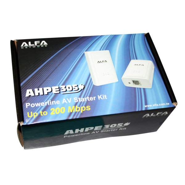 powerline network kit alfa 200 mbps ahpe305. Black Bedroom Furniture Sets. Home Design Ideas